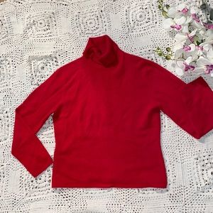 Ann Taylor red cashmere sweater